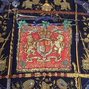 Hermés silk scarf. 1977 Queen's Silver Jubilee.